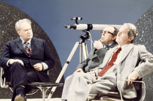 Morecambe and Wise talk to the television astronomy expert Sir Patrick Moore