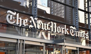 The New York Times building is seen in New York.