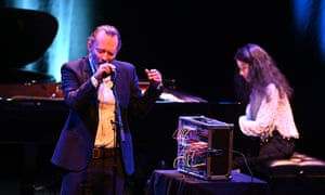 Thom Yorke joins the Labèque sisters during their Minimalist Dream House concert at the Barbican.