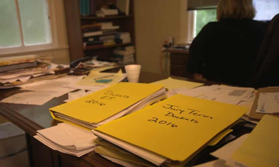 piles of legal paperwork