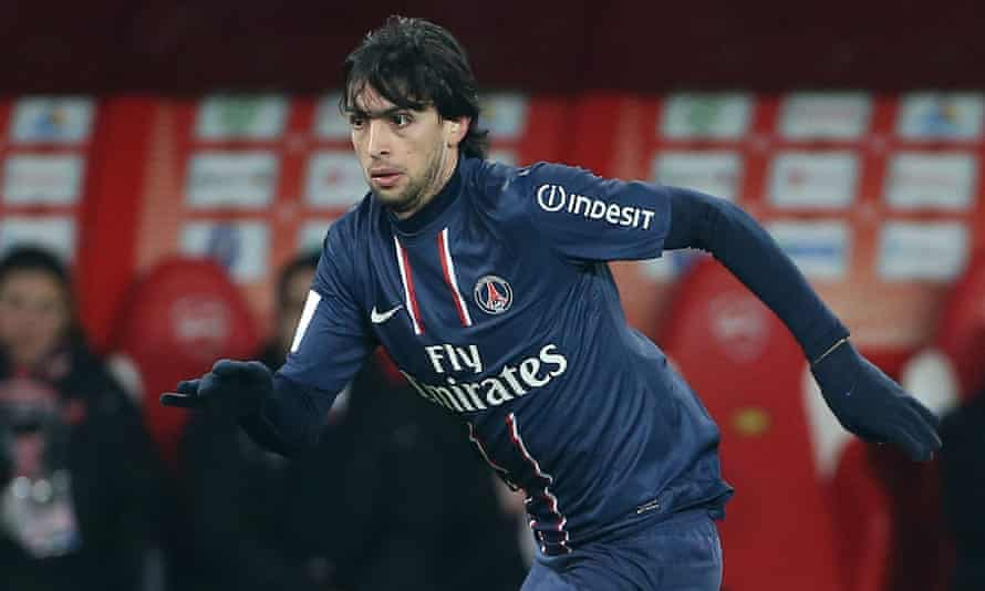Javier Pastore played for PSG from 2011 to 2018.