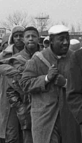 """Charles Mauldin, center, remembers being near John Lewis when a state trooper began to beat him. """"I'll never forget that."""""""