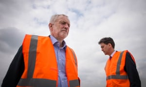 Jeremy Corbyn and his predecessor Ed Miliband.