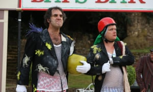 The Guildford Shakespeare Company in action, in contemporary dress during a production of The Taming of the Shrew