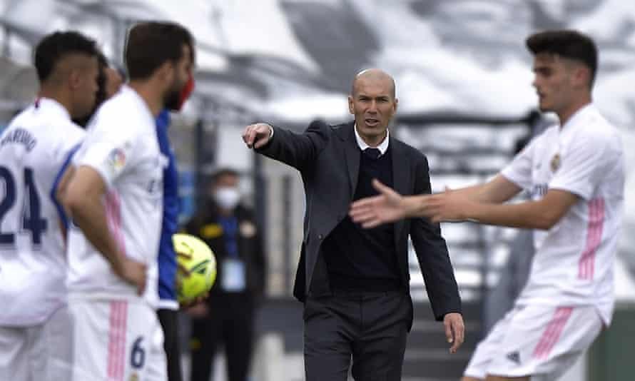 Zinedine Zidane during Saturday's home game against Villarreal