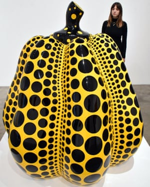Items from the Kusama production line ... a pumpkin sculpture at the Victoria Miro gallery.