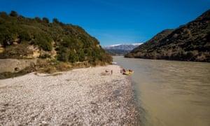 Kayaking on the Vjosa River.