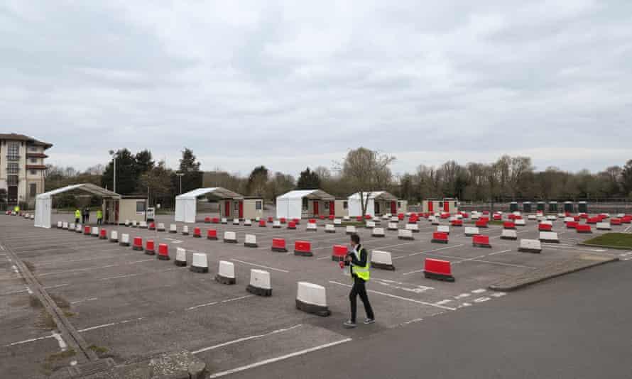 Drive-through coronavirus testing site