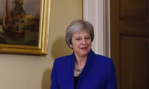 Theresa May who is facing a meeting of the 1922 Committee.