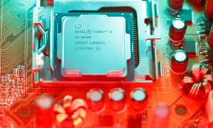 Intel's Core i5 processor, seen here in its eighth generation, dominates the market.