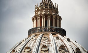 St Peter's dome in the Vatican.
