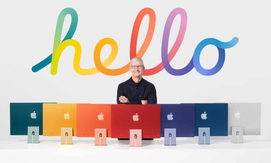 طراحی جدید 24in M1 iMac در طیف وسیعی از رنگ های جسورانه ارائه می شود.
