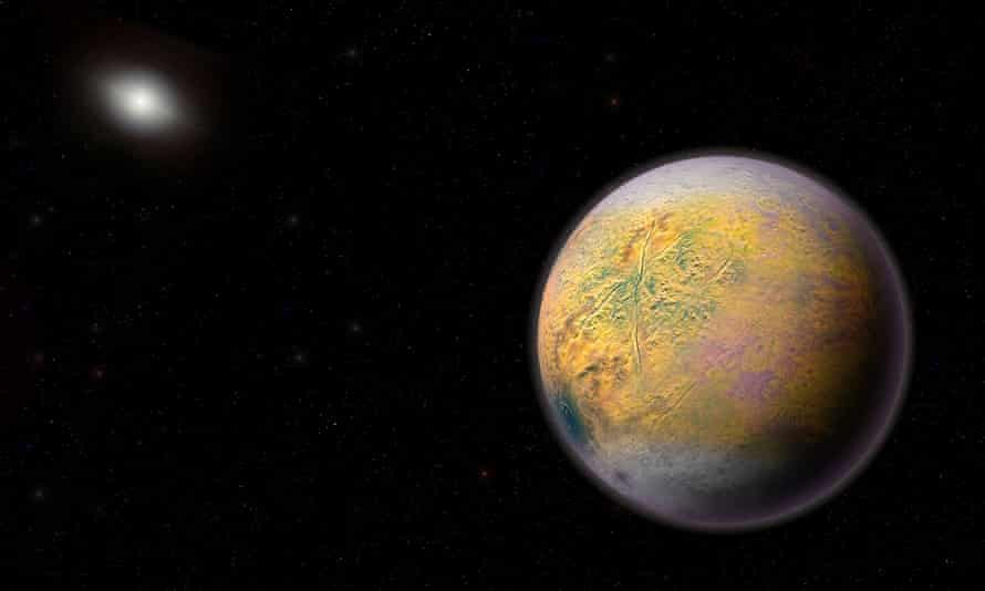Artist's conception of a distant solar system planet