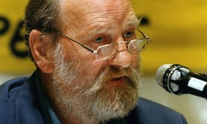Martin Forwood at a press conference in Bern, Switzerland, in 1998, where criminal charges were brought against the Swiss authorities for not taking the dangers of radiation seriously when sending their waste to Sellafield.