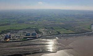An aerial view of the Hinkley Point site