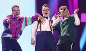 Mikolas Josef from the Czech Republic performs the song 'Lie To Me' a dress rehearsal for Eurovision. The perfect getting-ready anthem for Sarah Sanders!