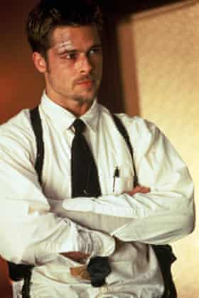 Protector … Brad Pitt in the 1995 film Seven, which co-starred Paltrow.