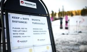 Station de ski à Saariselkä, en Laponie finlandaise.