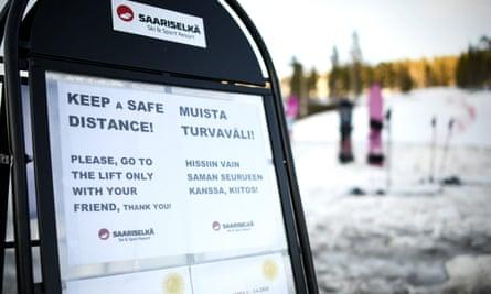 Ski resort in Saariselkä, in Finnish Lapland.