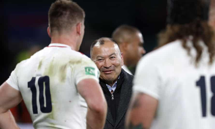 Eddie Jones (centre) and his staff have gone through the information supplied by England's Lions and had a meeting with the senior players.