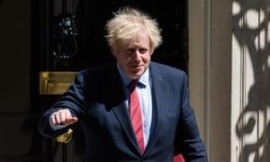 Boris Johnson leaves 10 Downing Street