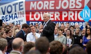 Paddy Ashdown at an EU remain rally in June 2016.
