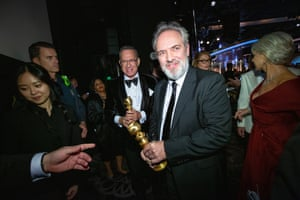 Sam Mendes, whose film 1917 following two British soldiers in the first world war won best picture (drama) and best director