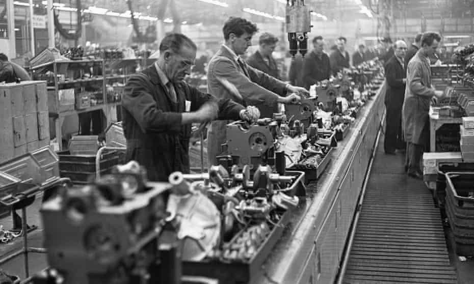 Austin Mini production line at Longbridge