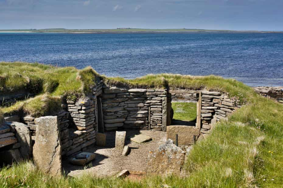 Knap of' Howar, a Neolithic stone dwelling on the small island of Papa Westray.