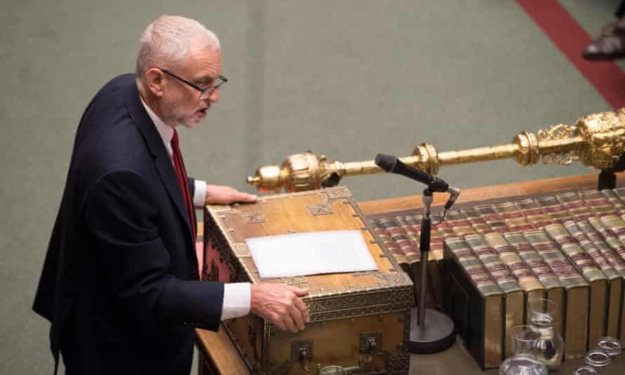 Jeremy Corbyn in the Commons this week.