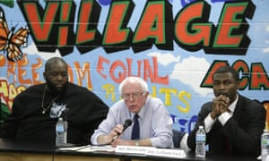 Killer Mike with Bernie Sanders and another politician.