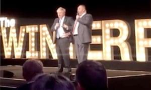 Boris Johnson at the Conservative party winter ball 2020