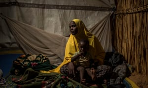 CHAD. August 2017. Hawa Adamu Bello and her son escaped from Nigeria due to the conflict with Boko Haram.