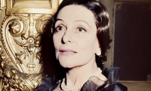 Yvette Chauviré posing in Paris after she received the Commander of the National Order of Merit.