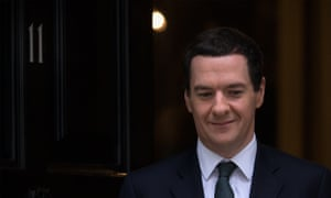 George Osborne leaves 11 Downing St