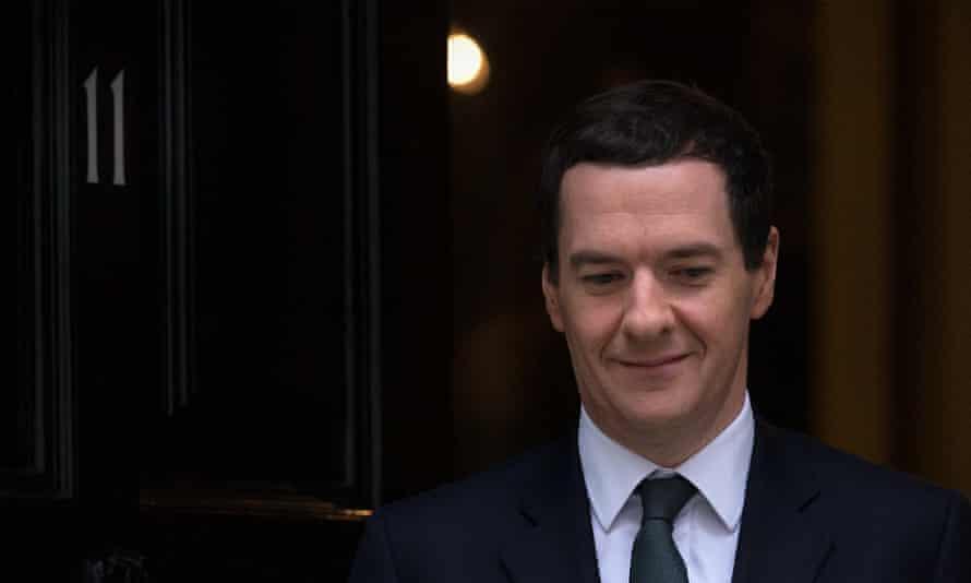 George Osborne leaves 11 Downing St