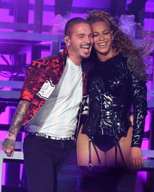J Balvin and Beyoncé.