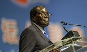 Zimbabwean president Robert Mugabe speaks at the Forum on Africa earlier this month.