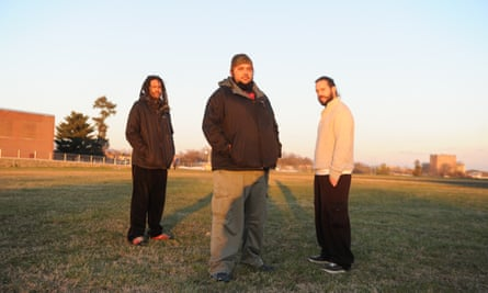 Brothers Atman Smith (left) and Ali Smith (center) with Holistic Life Foundation co-founder Andrés Gonzalez.