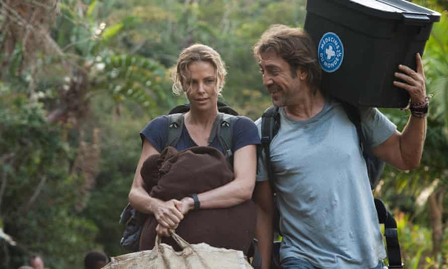 Charlize Theron and Javier Bardem falling in love in The Last Face.