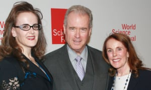 Robert Mercer with his daughter Rebekah (left) and his wife Diana (right).