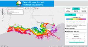Flood risk in the Cameron Parisk of Louisiana.