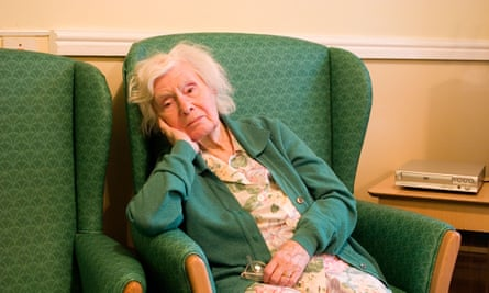 woman aged 90 in nursing home