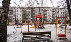 Known as Khrushchyovka, this type of five-storey apartment building is made of prefabricated concrete panels, and was developed in the 1950s when Nikita Khrushchev was in power in the USSR.