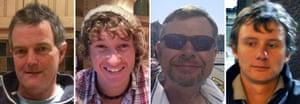 Cheeki Rafiki yachtsmen: Paul Goslin, James Male, Steve Warren and Andrew Bridge.