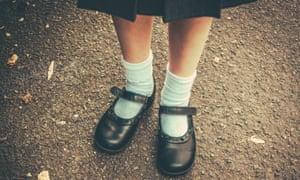 Schoolgirl's feet