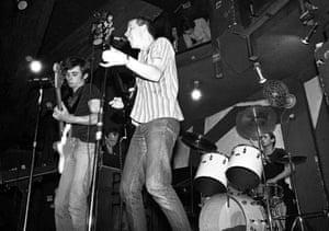 Early days … XTC in London in 1977.