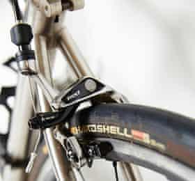 Photograph of Seven Axiom SL road bike detail