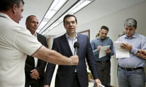 """Greek Prime Minister Alexis Tsipras telling the media that his government are on the """"final stretch"""" of talks to secure aid, and details will be released soon."""