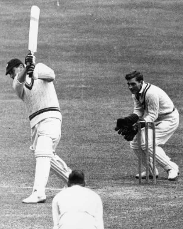 Wally Hammond batting for England during the 1945 Victory Test series against Australia
